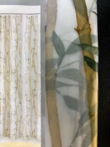 """Peva BAMBOO clear vinyl Shower Curtain~mildew resistant EASY clean NEW 70"""" x 71"""""""