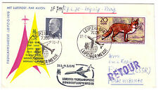 Messesonderflugbeleg, Leipzig - Prag, 27.2.1970