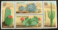 1981 Scott# 1942-1945 - 20¢ - Block of 4 - DESERT PLANTS - Mint NH