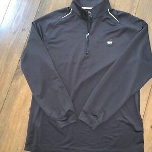 Masters Tech Augusta National 1/4 Zip Pullover Windbreaker Jacket XL Black