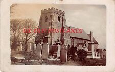 London, EAST HAM St. Mary Magdalene Church E6 - Real Photo Postcard.