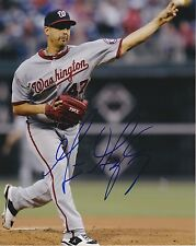 GIO GONZALEZ Signed NATIONALS 8x10 Action Photo PSA/DNA Guaranty Auto - NICE!