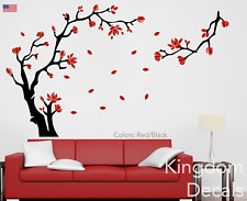 Magnolia Flower & Tree Wall Art Stickers Wall Decals Bedroom Living Room Decor