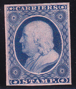 US Scott LO3 old 1c General Issue Carrier Stamp M/NG CV $50