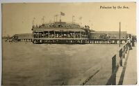 Palacious By The Sea Texas TX Pier 1915 American Flag Restaurant Vintage