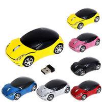 2.4GHz 1200DPI Wireless Optisch Mouse USB Kabellos Maus Form des Autos Für PC