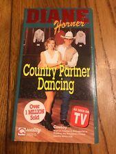 Diane Horner's Country Partner Dancing (VHS, 1992) Ships N 24h