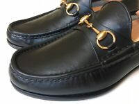 GUCCI Mens 1953 Roos Horsebit Black Leather Loafers UK 9 (US 9.5) $750