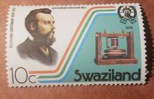 GM38 SWAZILAND - 1976 TELEPHONE CENTENARY 10C GRAHAM BELL MNH STAMP