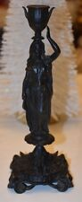 C1850 Vintage Iron Candle Holder by E.G. Zimmermann Beautiful Rare Condition