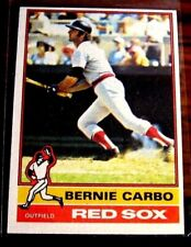 1975 TOPPS #356 RICO PETROCELLI 1976 #278 BERNIE CARBO RED SOX XM-NM NO CREASES