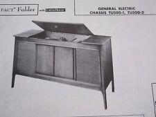 General Electric Tu500-1 & Tu500-2 Phonograph Radio Photofact