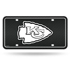 Kansas City Chiefs NFL 12x6 Carbon Fiber Design Metal License Plate Auto Tag