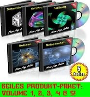 NEW AGE AUDIO CD-Paket Vol. 1-5 Synthetische Entspannungsmusik TOP Chill Out Neu