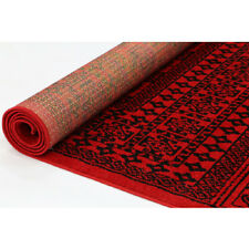 MAZAR RED AND BLACK TRADITIONAL AFGHAN INSPIRED MODERN RUG RUNNER - 3 Sizes *NEW