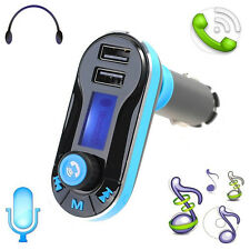 Car Charger Kit Dual USB Wireless Bluetooth Stereo MP3 Player FM Transmitter AUX