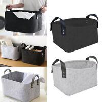 Foldable Wool Felt Storage Basket Toy Book Storage Hamper Home Clothes Organizer