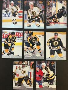 1996/97 Pinnacle Premium Stock Boston Bruins Team Set 8 Cards