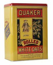 Retro QUAKER OATS Storage TIN Cereal PORRIDGE Cookie Tin 3.8L