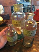 Farmhouse Glass Apothecary style Bottles set(3)