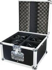 LED Par 56 Eco Set, 4 x LED Par 56 kurz Eco Schwarz + Flightcase