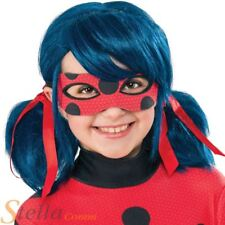 Miraculous Ladybug Wig Girls Superhero Fancy Dress Costume Accessory