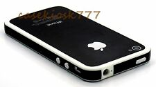 for iPhone 4 4s bumper case hard silicone black n  white + ///\////
