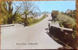 Colsterworth Bourne Road Grantham South Kesteven Lincolnshire Vintage Postcard