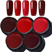 LEMOOC 5ml 5 Boxes Nagel Gellack Soak off Nail Art UV Gel Polish Nagellack Rot