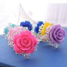 AM_ Big Rose Flower Napkin Ring Serviette Party Banquet Dinner Table Decor Hot