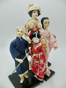 Vintage Japanese Costume Doll Group