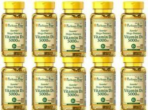 Vitamin D3 D 5000IU 10X100 Softgels Mega-Potency Max Strength USA 2023 Wholesale