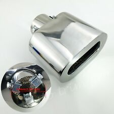 "Universal  2.5"" 63mm Inlet Tailpipe Rear Muffler Exhaust Tip Cover Square Outlet"