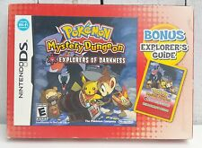 Pokemon Mystery Dungeon: Explorers of Darkness With Game Guide Nintendo DS