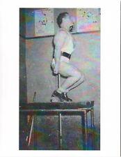 bodybuilder Early JOHN GRIMEK Demonstrates A Hack Squat Bodybuilding Photo