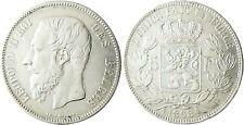 BELGIQUE  LEOPOLD  II  ,  5  FRANCS  ARGENT    1868  ,  TRANCHE  A