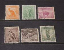AUST 1937 ANIMALS  SET OF 6 TO 1/- LYREBIRD VERY FINE F/U