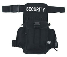MFH étui de ceinture Cuisse sac security banane sac noir 20x33x10cm