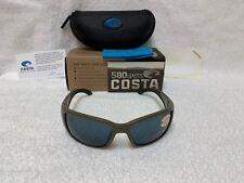 a73bada0db1e5 NEW Costa Del Mar Blackfin Polarized Sunglasses Matte Moss Gray BL 198 OGP  580P
