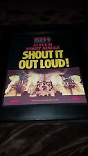 KISS Shout It Out Loud Alive II Rare Original Promo Poster Ad Framed!
