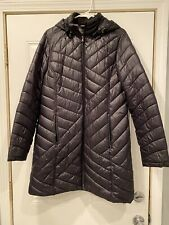 Women's black puffy coat 3/4 length size large