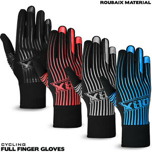 Winter Cycling Full Fingers Gloves Cycle Silicone Grip Roubiax Thermal S/M -L/XL