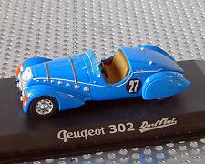 PEUGEOT 302 DARL' mat bleu, 1:43, Norev