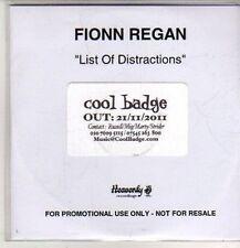 (DB443) Fionn Regan, List Of Distractions - 2011 DJ CD