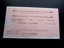 Ozzy Osbourne   ticket Japan 27/02/89