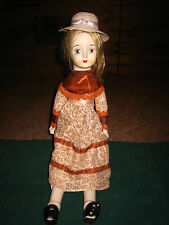"VINTAGE HAND PAINTED PORCELAIN DOLL W/ DOLL STAND~APPROX. 20"" TALL"