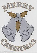 Christmas Cling On Vinyl Car Window Sticker - Silver Bells cc24