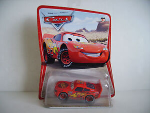 Disney Pixar Cars Diecast Lightning McQueen. Original Series Desert Card 12 Back