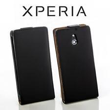 Handy Klapp Tasche Flip Style Case Sony Xperia P /LT22i Schutzhülle Etui Schwarz