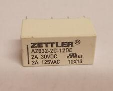 X25 Zettler Relays AZ832-2C-12DE 2A 30VDC 2A 125VAC